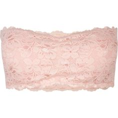 Padded Lace Bandeau ($9.97) ❤ liked on Polyvore featuring tops, shirts, bandeau, bandeaus, pink, pink top, lace top, lined shirt, padded top and bandeau tops