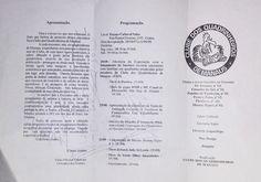 Verso de panfleto informativo do 6º Encontro de Quadrinheiros, evento ocorrido de agosto a setembro de 1998 no extinto Espaço Cultural Valer.