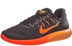 sports shoes 58644 a522e Nike Lunarglide 8 Mens 843725-006 Black Crimson Red Mesh Running Shoes Size  8.5 Mens
