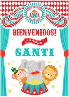 Kit Imprimible Editable Circo Vintage Decoración Y Candybar - $ 190,00 en MercadoLibre Circus Birthday, Circus Theme, Boy First Birthday, First Birthday Parties, First Birthdays, Carnival Birthday Parties, Kids Carnival, Carnival Themes, Party Kit