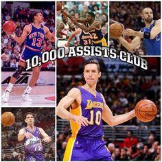 Steve Nash 10000 Assists Club