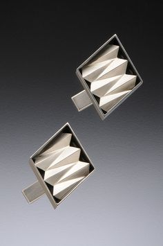 Origami Cuff Links in Sterling Silver by katherinerudolph on Etsy, $175.00