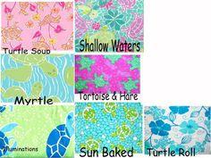 Lilly Pulitzer Line IDs - Frog/Alligator Crocodile/Lizard/Turtle Prints