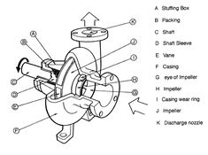 Centrifugal pump exploded view
