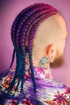 Looking for some simple yet trendy cornrows men white and black hairstyles? Our photo gallery includes corn rows ideas to match any taste and preferences, from a short bun with a fade to long undercut braids. #menshaircuts #menshairstyles  #cornrows #cornrowsmen #cornrowbraids Big Cornrow Braids, Cornrows Men, Cornrow Hairstyles For Men, Cornrow Braid Styles, Trendy Mens Hairstyles, Easy Hairstyles For Long Hair, Loose Hairstyles, Haircuts For Men, Viking Hairstyles