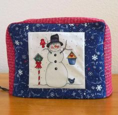 Snowman Toaster Cover by PatsysPatchwork on Etsy, $16.00