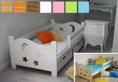 Dětská postel z MASIVU DP021 - bílá barva