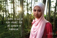Emawati, a P.A.C.E participant, wants to be role model for all women in Indonesia