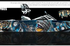 Boat Wraps | Marine Vinyl Graphics | Wake Graphics Sanger Boats, Red Crafts, Boat Wraps, How To Wrap Flowers, Rough Riders, Culture Shock, Boat Painting, Pacific Blue, Elements Of Art
