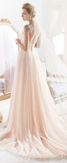 Alluring Tulle Jewel Neckline A-line Wedding Dress With Beaded Lace Appliques & Belt