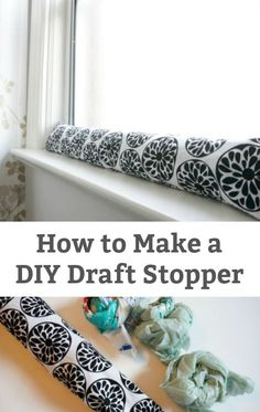 How to Make a DIY Draft Stopper - A simple way to save money, keep your house warm and save energy - Make your own window or door draft stopper. Window Draft Stopper, Door Draught Stopper, Diy Door Stopper, Diy Sewing Projects, Sewing Crafts, Sewing Ideas, Diy Generator, Save Energy, Easy Diy