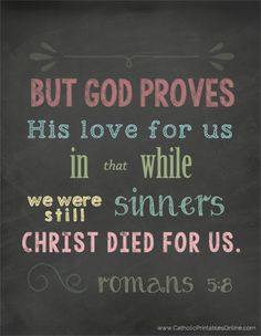 Christ Died for Us Art Print - Romans 5:8 {Free Printable}