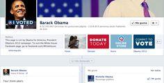 Mensaje de reelección del Presidente Obama vía Facebook.