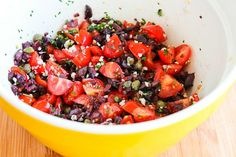 Kalyn's Kitchen®: Recipe for Hake Loins Baked with Tomato, Kalamata Olive, and Caper Salsa