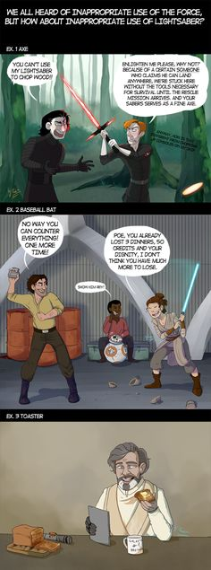 Inappropriate Use Of Lightsaber by punki123.deviantart.com on @DeviantArt