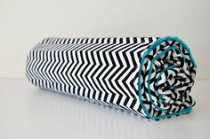 Baby Blanket Chevron in Black and White and Your by SirBubbadoo, $40.00