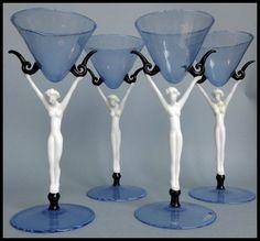Art Deco glasses Istvan komaromy.