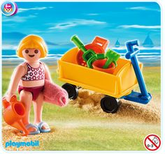 Girl with Beach Wagon, $3.49