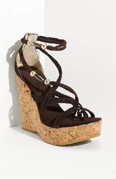 Jimmy Choo 'Pollon' Cork Sandal - Oh my word ... yes, please & thank you.