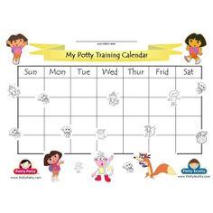 Dora the Explorer - Potty Training Calendar - COLOR