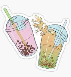 Bubble Tea Pegatina