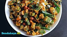 Welcome to Vismai Food. Bendi 65 is a simple snack like recipe which goes well with rice. this is a popular Indian Food, also known as kurkuri b. Popular Indian Food, Indian Food Recipes, Ethnic Recipes, Complete Recipe, Curries, Easy Snacks, Good Food, Make It Yourself, Vegetables