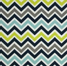 changing pad cover in navy, aqua, lime, gray chevron on Etsy, $19.00