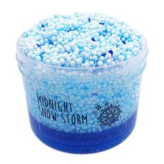 Midnight Snow Storm Slime Stress Relief Toys and Games for Adult and Children Slime Kit, Diy Slime, Cara Membuat Slime, Slime Names, Instagram Slime, Slime Containers, Pretty Slime, Blue Slime, Slime And Squishy