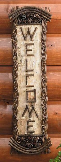 Cabin 9 Design - Rustic Cabin Décor Think I will try to make one of these.