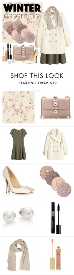 """Winter Wardrobe Staples (girly) Set: Contest Entry"" by wittysummer24 on Polyvore featuring York Wallcoverings, Valentino, H&M, Christian Louboutin, Rouge Bunny Rouge, Mikimoto, Christian Dior, French Connection, AERIN and winteressentials"