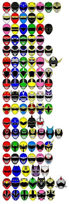 Legendary Power Ranger Helmet Icons by chaz1179