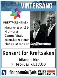 Annonse i Haugesunds Avis.  Mandskorets solide tenorer klar for Vintersang.