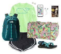 """""""Airplane!"""" by sc-prep-girl ❤ liked on Polyvore featuring Vineyard Vines, NIKE, Chaco, Vera Bradley, LifeProof, Majorica, The North Face and madzsixbeachdays"""