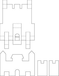 Effortless image throughout printable castle template