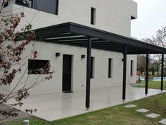 Pergola de hierro en terraza for the home pinterest for Cobertizos de chapa