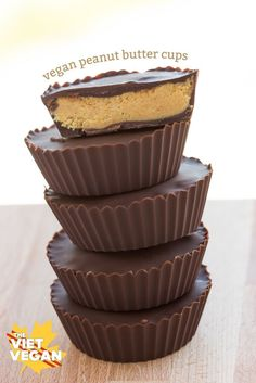 Vegan Peanut Butter Cups | The Viet Vegan | With fewer ingredients than commercial peanut butter cups, these little gems taste way better and are so simple to make