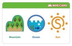「M O S」デザインのモスカード