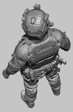 Hello Gentlemen, its been a while. This is my latest piece of work. Special Forces Gear, Military Special Forces, Zbrush, Soldado Universal, Game Character, Character Design, Military Costumes, Military Outfits, Plastic Toy Soldiers