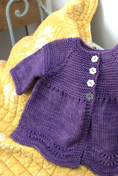 Baby knit cardigan sweater