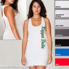 Kappa Delta Racerback Tank Dress $26.95 I like the black one