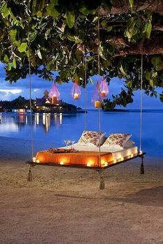 Evening lounge at the beach