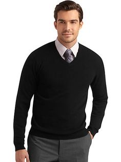 Black V Neck Sweater With Tie 2