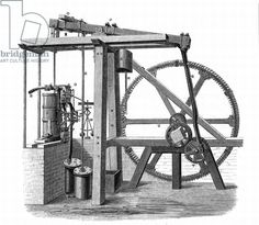 James Watt's (1736-1819) prototype steam engine 'Old Bess' c1778. In this engine, which was erected at the Soho works, Birmingham, England, ...