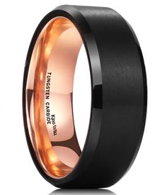 King Will Mens 8mm Black Tungsten Carbide Ring Blue Carbon Fiber