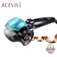 ACEVIVI New Women LED Display Curler Roller Hair Curls Wand Professional Ceramic Hair Curling Iron EU Plug Fashion Styling Tools