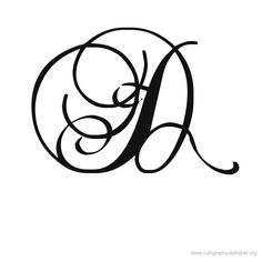 Calligraphy Alphabet Romantic D