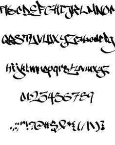 Ruthless Wreckin ONE font by Måns Grebäck - Pinim. Graffiti Alphabet Styles, Graffiti Lettering Fonts, Tattoo Lettering Fonts, Doodle Lettering, Graffiti Styles, Typography Letters, Graphic Design Typography, Lettering Design, Different Lettering