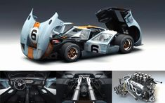 The Ford So fast. So if a guy who draws cars in video games for a living wants to pay tribute to a vehicle, there aren't many better options. Custom Muscle Cars, Custom Cars, Vintage Racing, Vintage Cars, Ford Motorsport, Shelby Car, Plastic Model Cars, Bmw Series, Ford Gt40