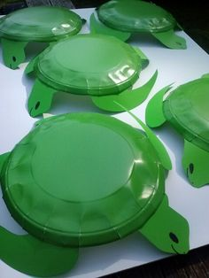 Turtles made from paper plates Weird animals VBS