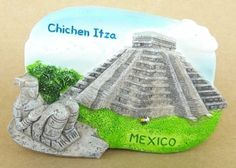 The Pyramid at Chichen Itza Mexico Tourist Souvenir Fridge Magnet Gift Toolbox